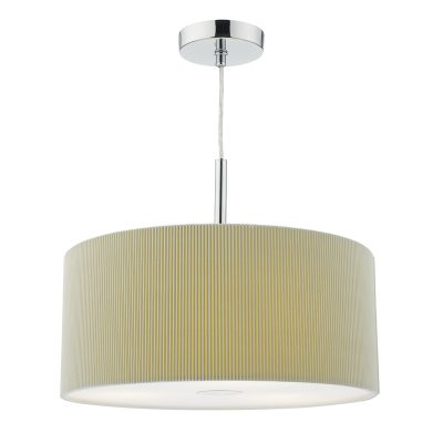 Maurice 40cm 3 Light Pendant Putty c/w diffuser
