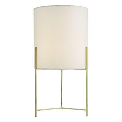 Michaela Table Lamp Satin Gold Cw Shd