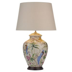 Mimosa Table Lamp White/ Floral/ Bird Base Only