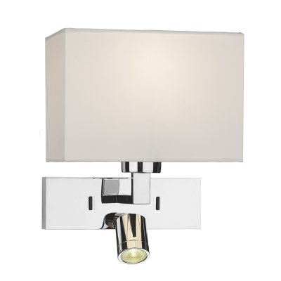 Modena Wall Light With LED In Polished Chrome (Bracket Only)