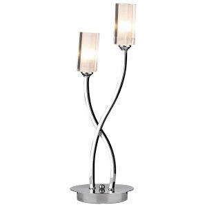 Morgan 2 Light Table Lamp Polished Chrome