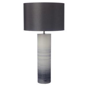 Nazare Table Lamp Black/White Ceramic Base Only