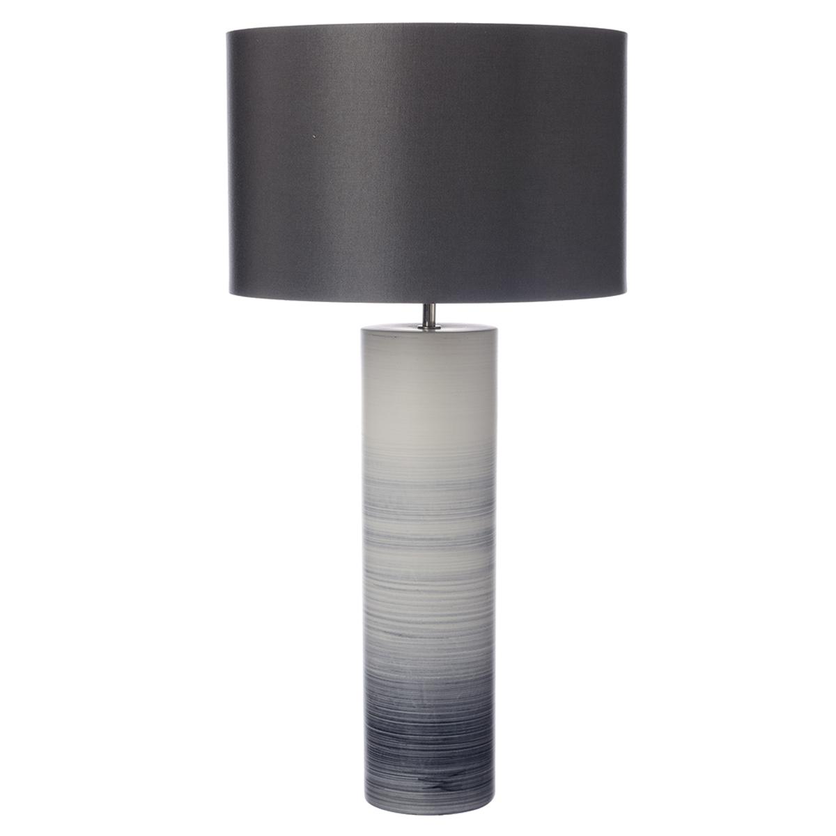 Nazare Table Lamp Black White Ceramic Base Only Nottingham Lighting Centre