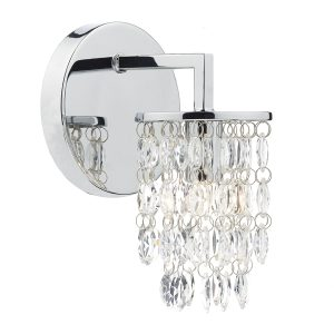 Niagra Single Wall Bracket Polished Chrome Clear