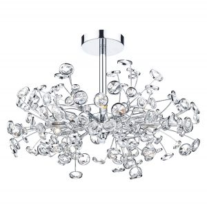 Oberoi 6 Light Semi Flush Polished Chrome