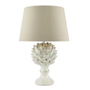 Orris Table Lamp Base Antique Cream