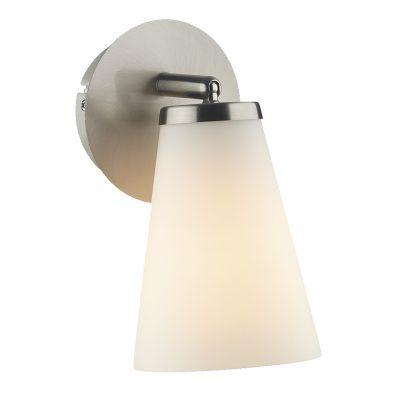Osbourne 1 Light Wall Light Satin Chrome