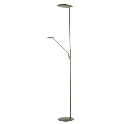 OUNDLE LED FLOOR STAND WITH READING LIGHT BRONZE