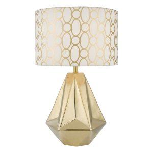Pasadena Table Lamp Gold Cw Shd