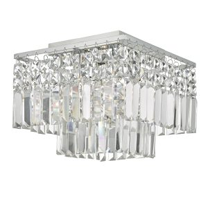 Poseidon 4lt Flush Polished Chrome & Crystal