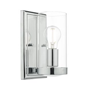Ramiro Wall Light Polished Chrome & Glass