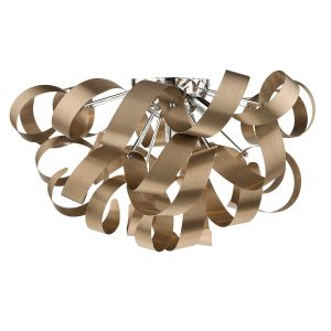 Rawley 5 Light G9 Flush Brushed Copper