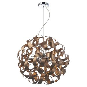 Rawley 9 Light Ribbon Pendant Brushed Copper