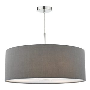 Ronda 60cm 3 Light Pendant Slate Grey c/w diffuser
