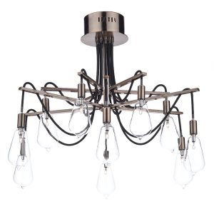 Scroll 10 Light Semi Flush Copper