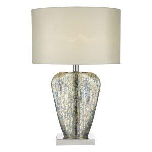 Syracuse Table Lamp Mercury Gold C/W Shade