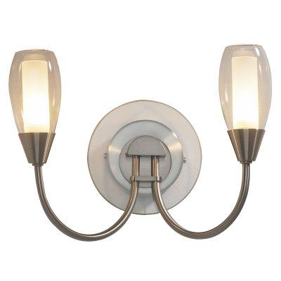 Tugel 2Lt Wall Light G9 Satin Chrome C/W Double Envelope Glass