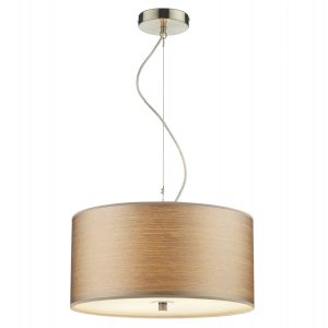 Tuscan 3 Light Strung Pendant 400MM Satin Chrome