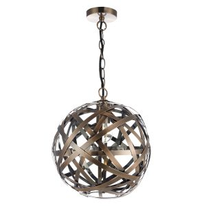 Voyage 1 Light Pendant Antique Copper Ball