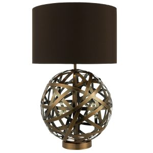 Voyage TL Woven Antique Copper Ball with Matching Lined Shade.