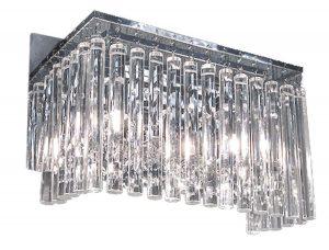 NLCB - Piazza 2 Light Crystal Wall Light