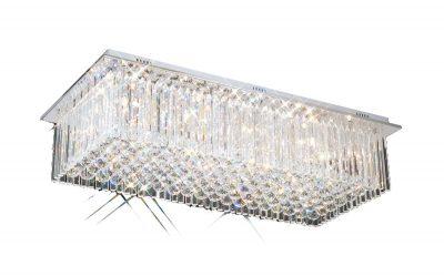 NLCB - Piazza 10 Light Crystal Flush