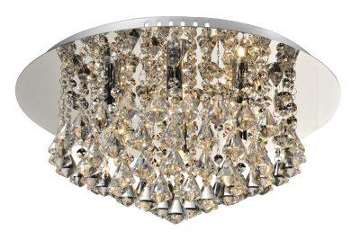 NLCB - Clara 6 Light Crystal Flush, Chrome