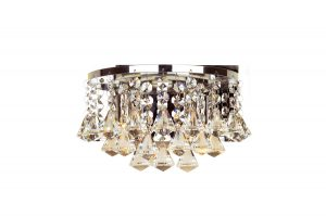 NLCB - Clara 2 Light Crystal Wall Light, Chrome