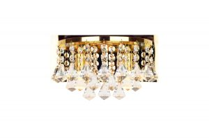 NLCB - Clara 2 Light Crystal Wall Light, Gold