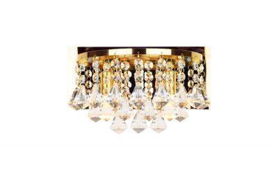 NLCB - Clara 2 Light Crystal Wall Light, Gold