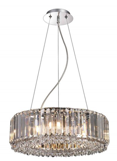 NLCB - Luxe 8 Light Round Crystal Pendant
