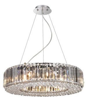 NLCB - Luxe 12 Light Round Crystal Pendant