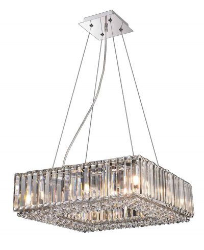 NLCB - Luxe 8 Light Square Crystal Pendant