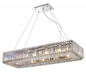 NLCB - Luxe 12 Light Rectangular Crystal Pendant