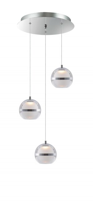 NLCB - Latitude 3 Light LED Round Pendant