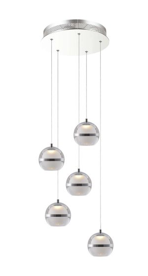 NLCB - Latitude 5 Light LED Round Pendant