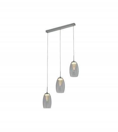 NLCB - Hera 3 Light LED Bar Pendant, Clear