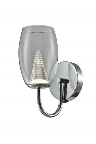 NLCB - Hera Single LED Wall Light, Clear