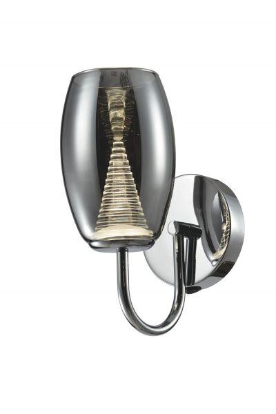 NLCB - Hera Single LED Wall Light, Smoked