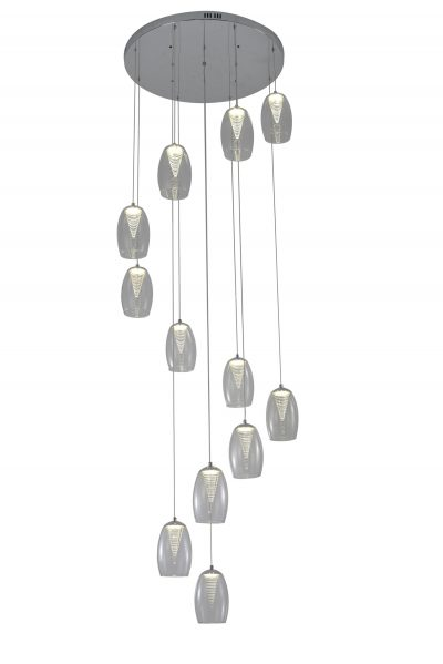 NLCB - Hera 12 Light LED Round Pendant, Clear