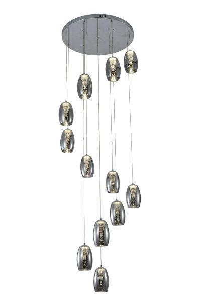 NLCB - Hera 12 Light LED Round Pendant, Smoked