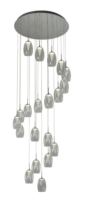 NLCB - Hera 20 Light LED Round Pendant, Clear