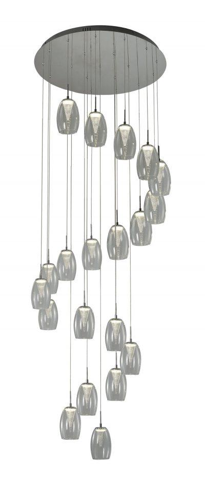 NLCB - Hera 20 Light LED Round Pendant, Clear