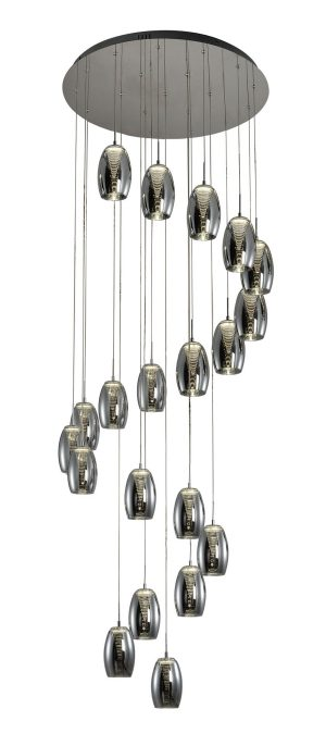 NLCB - Hera 20 Light LED Round Pendant, Smoked