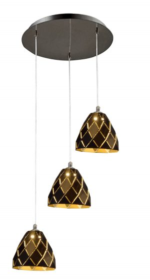 NLCB - Oblique 3 Light LED Round Pendant