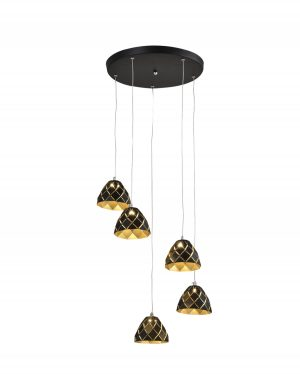 NLCB - Oblique 5 Light LED Round Pendant