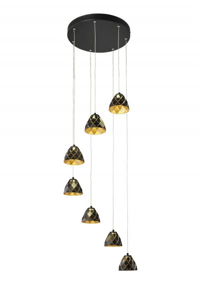NLCB - Oblique 7 Light LED Round Pendant