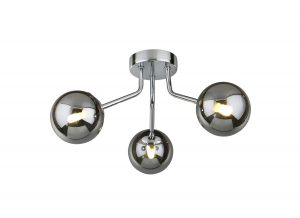 NLCB - Kugel 3 Light Semi Flush Smoked Glass