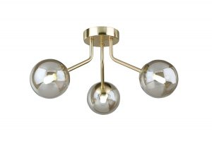 NLCB - Kugel 3 Light Semi Flush Cognac Glass