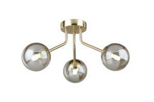 NLCB - Kugel 3 Light Semi Flush Cognac Glass